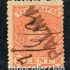Sellos: EDIFIL TELEGRAFOS Nº 35, ESCUDO DE ESPAÑA, USADO CON MARCA DE CARTERIA DE PALMA (MALLORCA). Lote 120833911