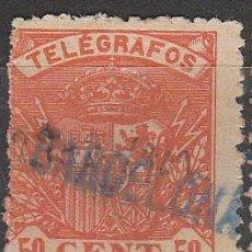 Sellos: EDIFIL TELEGRAFOS Nº 35, ESCUDO DE ESPAÑA, USADO CON MARCA DE CARTERIA DE BARCELONA. Lote 120834495