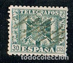 EDIFIL TELEGRAFOS Nº 79, ESCUDO AGUILA FRANQUISTA (Sellos - España - Telégrafos)