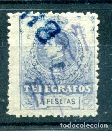EDIFIL 53 DE TELÉGRAFOS. 4 PTS AÑO 1912. USADO (Sellos - España - Telégrafos)