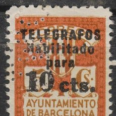 Sellos: BARCELONA TELEGRAFOS Nº 4, NUEVO SIN GOMA (PERFORADO E M C). Lote 123493995