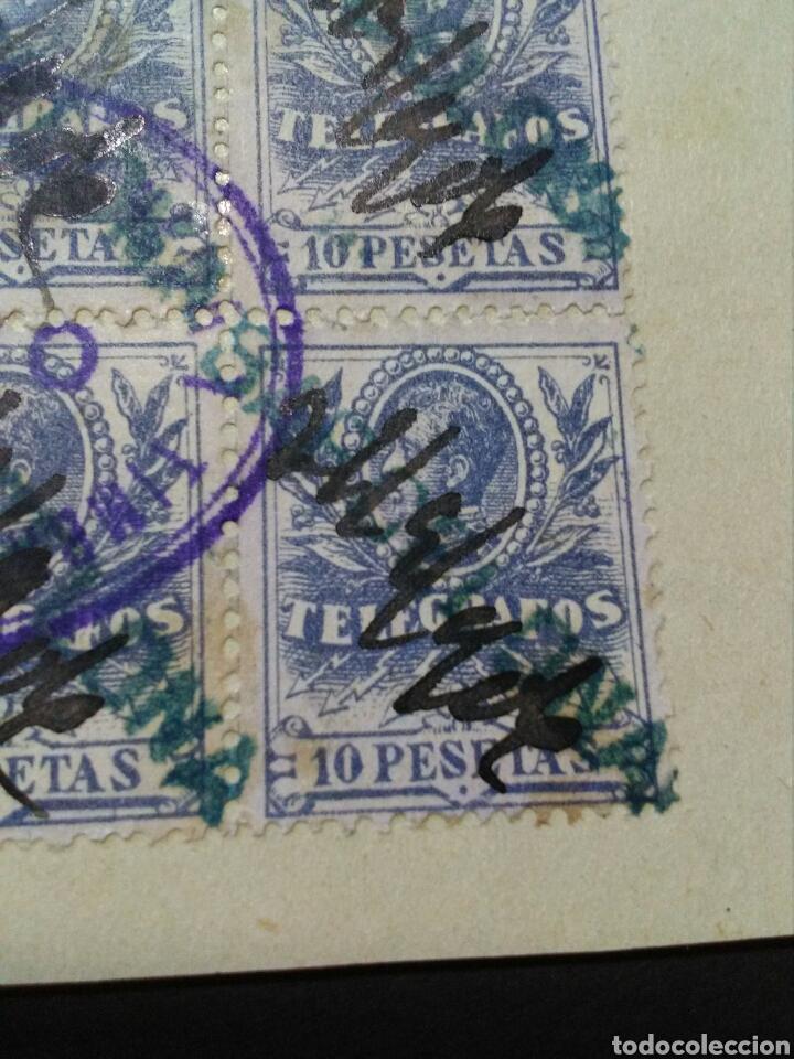 Sellos: TELEGRAFOS. 1905. FALSOS POSTALES EN B6 MATASELLOS FNMT. RAROS. MARCA BARCELONA. - Foto 2 - 133444229