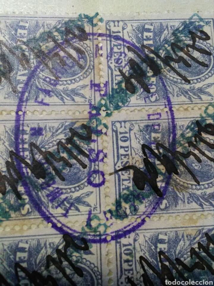 Sellos: TELEGRAFOS. 1905. FALSOS POSTALES EN B6 MATASELLOS FNMT. RAROS. MARCA BARCELONA. - Foto 3 - 133444229