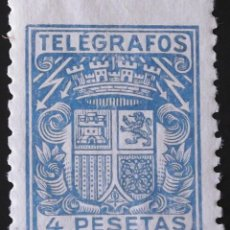 Sellos: EDIFIL, TELÉGRAFOS 74, SIN MATASELLAR.. Lote 137423286