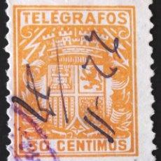 Sellos: EDIFIL, TELÉGRAFOS 71, MATASELLADO.. Lote 137423870