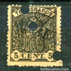 Sellos: EDIFIL 31 DE TELÉGRAFOS. USADO Y CON TRES TALADROS.. Lote 141512798