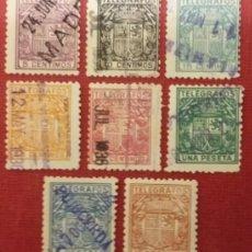 Sellos: TELÉGRAFOS. ESCUDO DE ESPAÑA, 1932-33. 8 VALORES (Nº 68-75 EDIFIL).. Lote 141517726