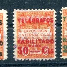 Sellos: EDIFIL 1/3 DE TELÉGRAFOS DE BARCELONA. USADOS.. Lote 141814250