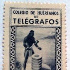Sellos: COLEGIO DE HUERFANOS DE TELEGRAFOS, NUEVO CON GOMA.. Lote 152944782