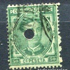 Sellos: EDIFIL 179 T. 50 CTS . ALFONSO XII, AÑO 1876. VER DESCRIPCIÓN. Lote 145264970