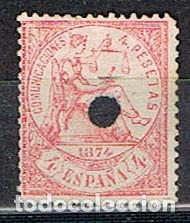 EDIFIL 151 T, ALEGORIA DE LA REPUBLICA (PRIMERA REPUBLICA), USADO (Sellos - España - Telégrafos)