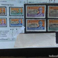 Selos: 32-SERIE COMPLETA 1945 ESPAÑA HABILITADO CEUTA HUÉRFANOS TELÉGRAFOS SOBRECARGA MNH**.VALOR 30,00€ FI. Lote 155660746