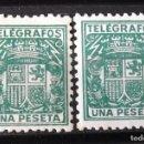 Sellos: TELÉGRAFOS, 73, DOS SELLOS NUEVOS, SIN CH. ESCUDO.. Lote 160689986