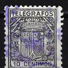 Timbres: 1932 - ESPAÑA TELÉGRAFOS EDIFIL 69 USADO - ESCUDO DE ESPAÑA. Lote 166638362