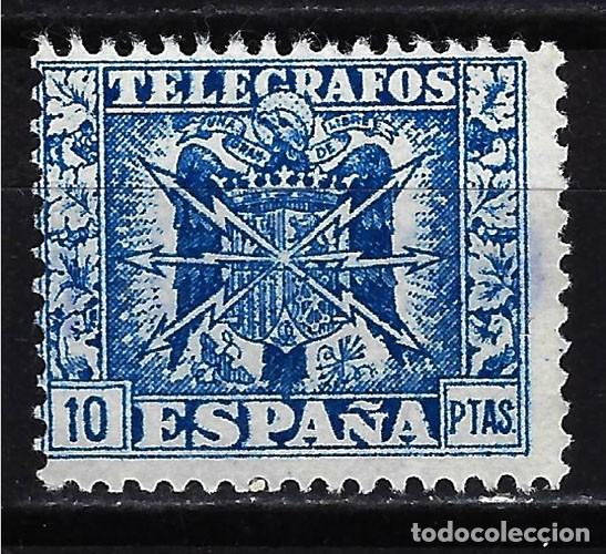 1949 - ESPAÑA TELÉGRAFOS EDIFIL 92 MNG* NUEVO SIN GOMA - ESCUDO DE ESPAÑA (Sellos - España - Telégrafos)