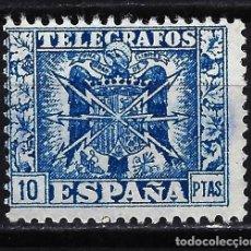 Sellos: 1949 - ESPAÑA TELÉGRAFOS EDIFIL 92 MNG* NUEVO SIN GOMA - ESCUDO DE ESPAÑA. Lote 166640506