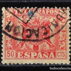 Francobolli: 1949 - ESPAÑA TELÉGRAFOS EDIFIL 89 USADO - ESCUDO DE ESPAÑA. Lote 166641542