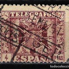 Francobolli: 1949 - ESPAÑA TELÉGRAFOS EDIFIL 91 USADO - ESCUDO DE ESPAÑA - 4 PTA.. Lote 166641722