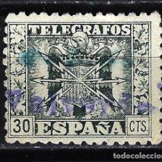 Francobolli: 1940 - ESPAÑA TELÉGRAFOS EDIFIL 79 USADO - ESCUDO DE ESPAÑA - 30 CTS.. Lote 166642042