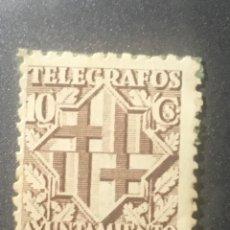 Sellos: TELÉGRAFOS AYUNTAMIENTO BARCELONA 10 CS. Lote 169608456