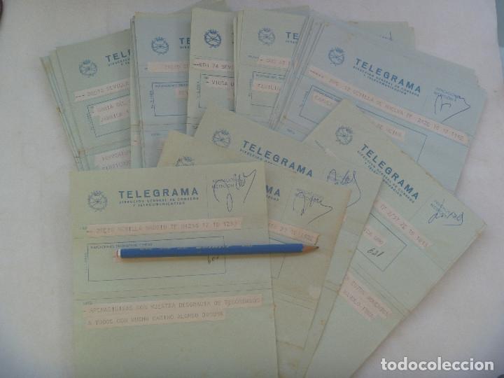 LOTE DE 39 TELEGRAMAS A LA MISMA FAMILIA POR LA MUERTE DE SEÑOR. SEVILLA, 1979 (Sellos - España - Telégrafos)