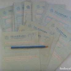 Sellos: LOTE DE 39 TELEGRAMAS A LA MISMA FAMILIA POR LA MUERTE DE SEÑOR. SEVILLA, 1979. Lote 175320478