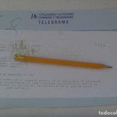 Sellos: TELEGRAMA DE LA CASA DEL REY AGRADECIENDO PESAME POR MUERTE DEL PADRE. JUAN CARLOS. Lote 178383415
