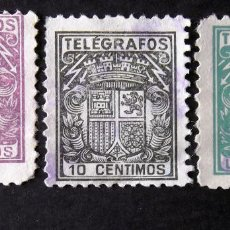 Sellos: TELÉGRAFOS, TRES SELLOS USADOS: EDIFIL 68, 69 Y 73NA.. Lote 184767371