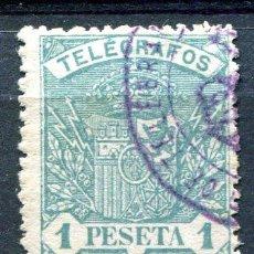 Sellos: EDIFIL 60 DE TELÉGRAFOS. 1 PTA AÑO 1921. USADO. . Lote 186257546