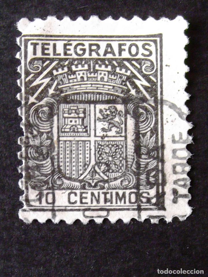 TELÉGRAFOS, EDIFIL 69, SELLO USADO. ESCUDO. (Sellos - España - Telégrafos)