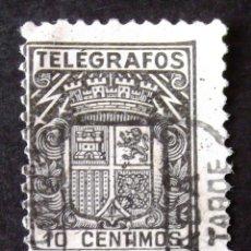 Sellos: TELÉGRAFOS, EDIFIL 69, SELLO USADO. ESCUDO.. Lote 186402007