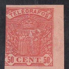 Sellos: TELEGRAFOS, 1921 EDIFIL Nº 59, PAREJA SIN DENTAR. . Lote 191801678