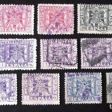 Sellos: TELÉGRAFOS, CATORCE SELLOS USADOS DE LA SERIE EDIFIL 85-92, SON: 87 (3), 88 (2), 89 (1), 90 (6) Y 92. Lote 192865517
