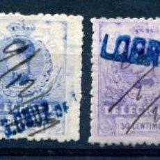 Francobolli: EDIFIL 47 A 52 DE TELÉGRAFOS. AÑO 1912. USADOS. . Lote 193002832