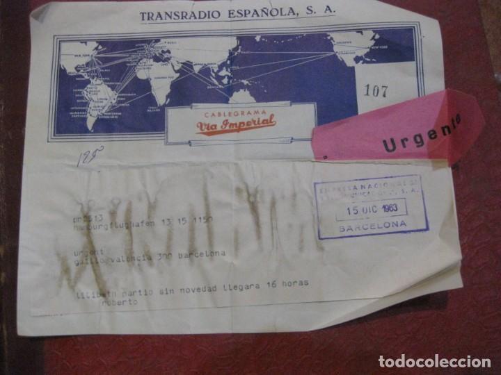 CABLEGRAMA VIA IMPERIAL . TRANSRADIO ESPAÑOLA SA 1963 TELEGRAMA (Sellos - España - Telégrafos)