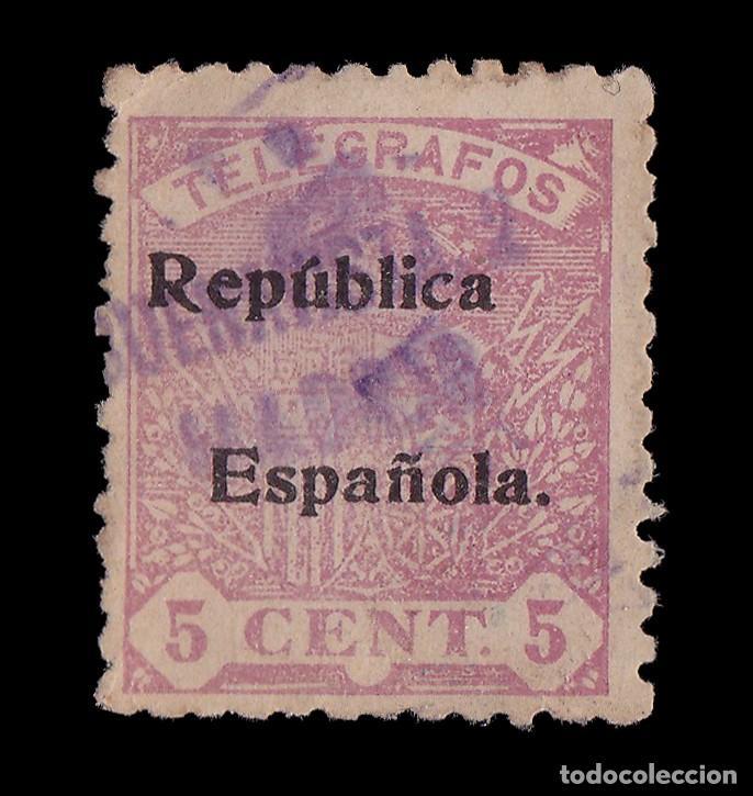 TELÉGRAFOS.1931/33. ESCUDO ESPAÑA.HABILITADO.5C.USADO.EDIFIL. 63 (Sellos - España - Telégrafos)