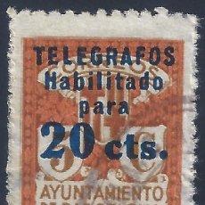Sellos: TELÉGRAFOS. BARCELONA 1934. HABILITACIÓN TIPO B. EDIFIL 5. VALOR CATÁLOGO: 6,20 €.. Lote 203028010