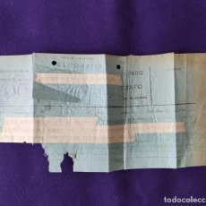 Sellos: ANTIGUO TELEGRAMA CON CENSURA MILITAR. TELEGRAFOS VIZCAYA. BILBAO. 1936-39. ORIGINAL CARTA - POSTAL.. Lote 203907241