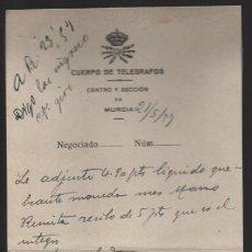 Sellos: MURCIA.- RECIBO QUEBRANTO DE MONEDA. AÑO 1927. VER FOTO. Lote 205187683