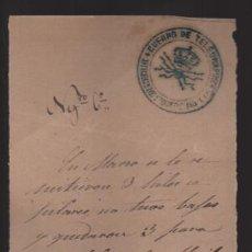 Sellos: MURCIA.- CUERPO DE TELEGRAFOS,-AL JEFE DE CIEZA- AÑO 1879.- VER FOTO. Lote 205189606