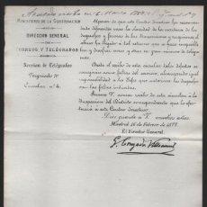 Sellos: MADRID.- MINITERIO GOBERNACION- CORREOS Y TELEGRAFOS- CIRCULAR Nº 4.- AÑO 1877-VER FOTO. Lote 205191478