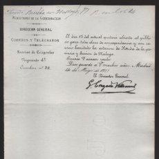 Sellos: MADRID.- MINITERIO GOBERNACION- CORREOS Y TELEGRAFOS- CIRCULAR Nº 22.- AÑO 1877-VER FOTO. Lote 205191762