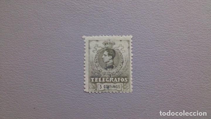 ESPAÑA - 1912 - ALFONSO XIII - TELEGRAFOS - EDIFIL 47 - MNH** - NUEVO - BUEN CENTRAJE - LUJO. (Sellos - España - Telégrafos)
