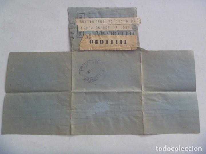Sellos: TELEGRAMA DESDE BAEZA A MILITAR RGTO. MIXTO DE INGENIEROS EN MELILLA , 1960 - Foto 2 - 210059128