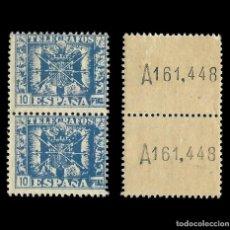 Sellos: TELÉGRAOS.1940-42.ESCUDO ESPAÑA.5P.BLQ 2.MNH.EDIFIL.92. Lote 210475615