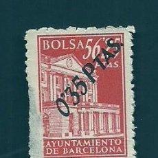 Francobolli: A2-9 FISCAL AYUNTAMIENTO DE BARCELONA BOLSA EJEMPLAR DE 56.25 PTAS SOBRECARGADO CON 035 PTAS COLOR. Lote 213721788