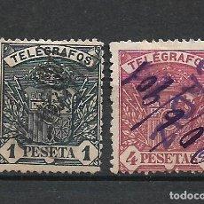 Francobolli: ESPAÑA 1901 TELEGRAFOS EDIFIL 36/37 USADO - 3/29. Lote 215341671