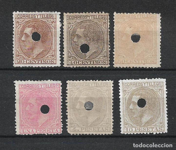 ESPAÑA 1879 EDIFIL 203T Y 205T/209T - 19/15 (Sellos - España - Telégrafos)