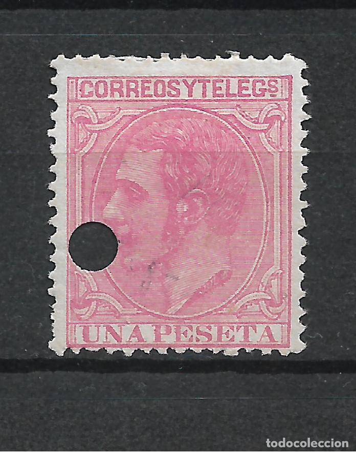 ESPAÑA 1879 EDIFIL 207T - 19/15 (Sellos - España - Telégrafos)