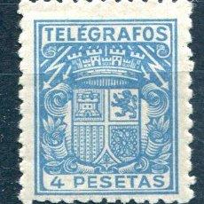 Sellos: EDIFIL 61 DE TELÉGRAFOS. 4 PTAS AÑO 1921, CON NUMERACIÓN. NUEVO SIN FIJASELLOS. Lote 219103106